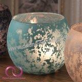 Europäischer Art-Mondschein-Schatten-rundes Glaskerze-Halter-Kerze-Cup-Ausgangsdekor-Tisch-Mittelstück