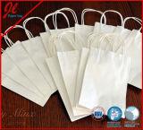 De gerecycleerde Zakken van de Koffie van het Document van Kraftpapier met Handvat