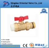 Freie Probe, Quergriff-Messingkugelventil mit in auf lagerfabrik in der China-Qualität
