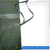 Sacos tecidos PP verdes por atacado da areia 14*26