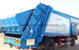 6 les roues 4X2 des déchets de camion d'ordures de compacteur de 10 à 12 mètres cubes se rassemblent en vente