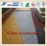 Cn-C06 Anti-Deslizamiento Resistencia a la rodadura Color Crystal Road Suelo