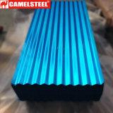Feuille ondulée de toiture d'acier enduit de couleur de PPGI