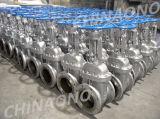 Tipo de flange manual de aço inoxidável Válvula de porta plana