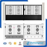 Porte d'entrée décorative royale en fer forgé