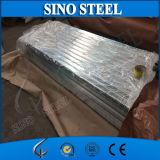 Hoja de acero acanalada galvanizada Z60 del material para techos G350
