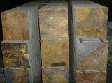 Le ardesie arrugginite per la decorazione o per le mattonelle di pavimentazione o la pietra per lastricati o della parete/hanno coltivato le pietre/ardesie coltivate