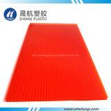 Bayer-materielles rotes Polycarbonat- (PC)Höhlung-Dach-Blatt für Dekoration
