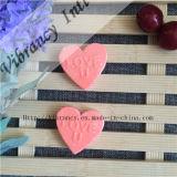 Sabão cor-de-rosa barato descartável do hotel do sabão do ambiente da forma do amor