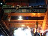 天井クレーンを投げる電気トロリー走行の鋳物場