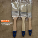 F-04 Decorar hardware Herramientas de mano de pintura de mango de madera Brocha filamentos sintéticos
