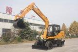 Excavador de la rueda de 15 toneladas con el soporte