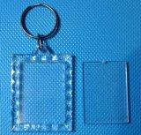 Trousseau de clés acrylique de plastique de trousseau de clés de bâti de photo de trousseau de clés de cadeau de promotion