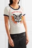 2017의 새로운 디자인은 면 저어지 소녀 여름 t-셔츠를 도매로 인쇄했다