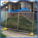 Heißer eingetauchter galvanisierter entfernbarer temporärer Zaun