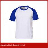 T-shirts unisexes de plaine ronde en gros de collet (R97)