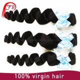 波の加工されていない卸し売りRemyのバージンのインドの人間の毛髪のよこ糸を緩めなさい