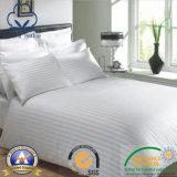 Hotel de Cotton/CVC/hospital/hoja de base casera con la tela del satén/de la raya