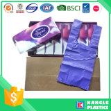 HDPEのハンドルのタイが付いている使い捨て可能な赤ん坊のおむつ袋