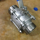 Thread maschio Estremità Stainless Steel 3PC Ball Valve