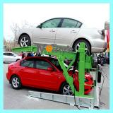 Deux post 2 étage Système de stationnement de voiture d'inclinaison hydraulique