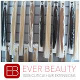 Natural Liso-Derrubar extensões peruanas do cabelo humano de Remy da queratina