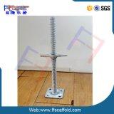 Creux en acier galvanisé d'échafaudage de pied de vérin à vis