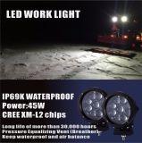 45W 반점 LED 안개등 크리 사람 입방체 표시등 막대 LED 깍지 빛은 Offroad 4WD 트럭 픽업 SUV ATV UTV 주간 야간 항행등을%s 지프 모는 일 램프를 방수 처리한다