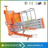 4m-12m Alumínio Alloy One Mast Lift Aerial Work Platform