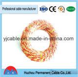 Red&Yellow torció el alambre del cable de la iluminación del alambre eléctrico 450/750V de Rvs