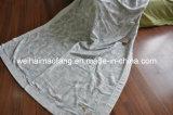 編まれたジャカード織り方100%の純粋な綿毛布