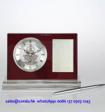 Horloge de bureau en bois haute qualité avec stylo K8033