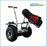 Utilisation de golf de scooter électrique, véhicule de marque Ecorider la mobilité personnelle, deux roues chariot de golf