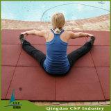 高い柔軟性の体操の床のゴムタイルを入れReistanceなさい