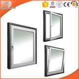 Doble Acristalamiento Tempered Clear Glass Aluminio Tilt and Turn Windows, Mejores Tratamientos de Superficie Aluminum Tilt & Turn Windows