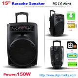 Caja del altavoz colorido de luz LED activo inalámbrico para Karaoke