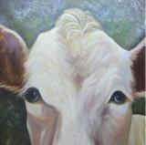 ホーム装飾のためのハンドメイドの白い牛油絵