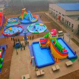 2016巨大で膨脹可能な水公園、子供のための膨脹可能な水遊園地