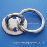 Piatto rotondo dell'occhio dell'acciaio inossidabile con l'anello saldato