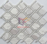 Azulejo de mosaico de mármol mezclado blanco y negro (CFS1142)
