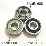 Rolamento de esferas 608zz, rolamento de esferas profundo 608-2RS do sulco, rolamento de esferas 608 do skate (8X22X7mm)