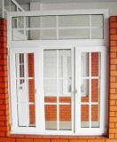 住宅の家(PCW-047)のためのPVC開き窓のガラス窓