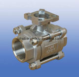 Válvula de esfera 3PC de venda quente com 1000wog