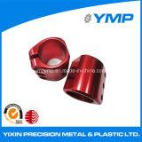 Anodizado rojo CNC de precisión de la máquina con 100% de la Inspección de servicio