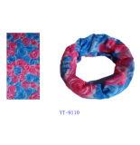 Bandana rose et bleu de modèle de fleur de Rose (YT-9110)