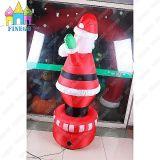 膨脹可能な屋内空気のDanerの警備員のChristamsのギフトの木サンタクロース
