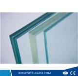 PVB 필름에 의하여 박판으로 만들어지는 건축 유리를 가진 명확한 플로트 유리