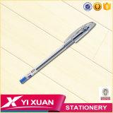 Penna di sfera di plastica del gel di banco della cancelleria su ordinazione promozionale del rifornimento con il marchio