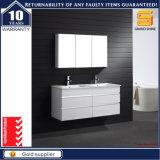 36 '' Modern Wall Hung White Lacquer Gabinete de banheiro com espelho