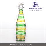 bottiglia di vetro colorata spruzzo a calce sodata 1L